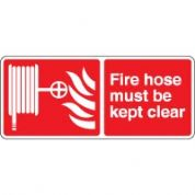 Fire safety sign - Fire Hose Must Be 064